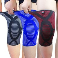 Wholesale Leg Support Sports - Nylon Elastic Basketball Knee Pads for Volleyball Knee Support Leg Sleeve Sports Knee Brace