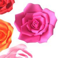 grande decoração de flores de papel venda por atacado-Rosa Artificial Grande Flor De Espuma De Casamento Decoração de Parede de Fundo de Estágio Decoração de Papel Em Casa Decoração Do Partido Diâmetro 15 25 cm