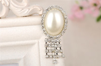Wholesale Cheap Elegant Wholesale Brooches - High Quality Pearls Rhinestone Brooches Elegant Women Jewelry Wedding Party Evening Formal Occasion Clothing Accessories Pins Brooches Cheap