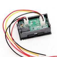 Wholesale Led Voltage Amp Meter - Wholesale-DC 3.5-30V 0-50A Dual LED Digital Volt meter Ammete Voltage AMP Power free shipping