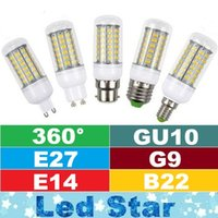 Wholesale Smd Led Light Spot E27 - SMD5730 Led Light Bulbs GU10 E27 E14 B22 G9 Led Corn Lights 7W 12W 15W 18W Led Spot Lights 360 Degree AC 85-265V
