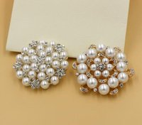 multi flower brooches 2018 - Korean New Fashion Style Brooches Multi-beads Pins Bridesmaid Flower Girl Wedding Pearl Rhinestone 12 colors for choices
