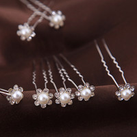 Wholesale cheap hair accessories free shipping - 2018 hot Hairpins Wonderful free Shipping High Quality Cheap Beautiful Pearl Wedding Bridal Flora Tiaras Hair Accessory Headpiece