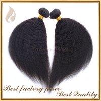 i̇talyan saç örgüsü toptan satış-2016 sıcak satmak kinky düz saç örgü kaba yaki italyan yaki saç uzatma doğal renk çin bakire insan saçı atkı ücretsiz kargo