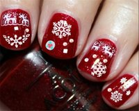 Wholesale Gilded Christmas Decorations - Nail Stickers 3D Nail Polish Christmas Decals Gilding Silver Christmas Old Man Snowflakes Nail Art Act The Role Ofing Is Tasted Decoration