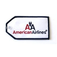 Wholesale Wholesale Luggage Tags Personalized - American Airlines Embroidered Crew Tag Personalized Embroidery Luggage Tag 200pcs per lot