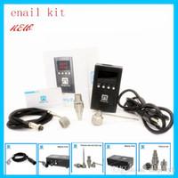 Wholesale xlr black - temperature box titanium nail Enail Temperature Control kit Hottest enail dnail Enail with 5pin xlr plug heating coil domeless quartz enail