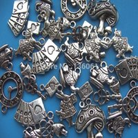 Wholesale Mushroom Beads Wholesale - Hot Sale Vintage Silver Mixed Rabbit &Mushroom Poker Charms Pendants For Bracelet Necklace Jewelry Making DIY Accessories X281