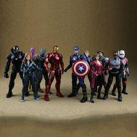 Wholesale Ironman Toys Figures - 11 Styles 34.2cm Captain America Ironman Black Panther Avengers Model PVC Action Figure Super Hero Cartoon Collectable Toys CCA8409 24pcs