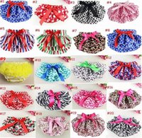 Wholesale 2t girls panties - 21 Patterns Baby Ruffle Bloomers Petti Lace pants Girls Ruffle Panties Briefs Bloomer Diaper Covers for Christmas Holidays B11