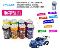 Wholesale Rc Cars Free Dhl - 60Pcs Cheap Mini Coke Can RC Radio Remote Control Micro Racing Car Hobby Vehicle Toy Christmas Gift DHL Free Shipping