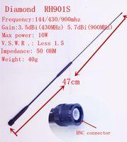 Wholesale Bnc Diamond Antenna - Wholesale-Diamond RH901S 144 430 900mhz Wide band antenna BNC for TK308 208,ICV82,ICV8,IC V85 ect. two way radio Freeshipping