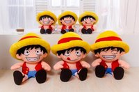 Wholesale Luffy Soft Toy - One Piece Plush Kid Toys Monkey D Luffy Soft Stuffed Cloth Doll Japanese Anime Movie Plush Toys
