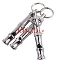 Wholesale Dog Whistle Chain - Brand new 500pcs lot Wholesale High quality Pet Training Adjustable Ultrasonic Sound Key chain Dog Whistle free shipping