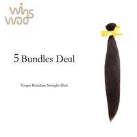 Wholesale Straight Virgin Brizilian Hair - 7A Unprocessed Virgin straight Wave Bundles 5Bundles Lot, Wavy Brazilian Virgin Hair Brizilian straight Hair
