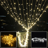 Wholesale Outdoor Wedding Lights For Sale - Wholesale- ICOCO 3x3m 6x3m Outdoor Home Garland LED String Fairy Curtain Light for New Year Christmas Party Wedding Garden Decoration Sale