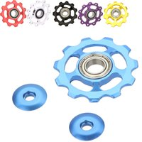 Wholesale Bicycle Parts Wholesalers - 11T Aluminum Alloy Bicycle Rear Derailleur Jockey Wheel Road MTB Bike Guide Roller Idler Pulley Part Cycling Bike Accessories