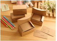 Wholesale Paper Memo Pads - New blank kraft paper message card   Notepad   memo pads   label  marker wholesale Free Shipping , dandys