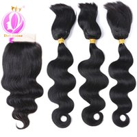 Wholesale braiding hair machine wholesalers for sale - Doheroine New arrival Body Wave Human Hair Bundles Braid In Human Hair Bundles With Lace Closure Brazilian Virgin Hair Extension