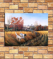 Wholesale Oil Painting Hunting - High definition oil painting, home decoration painting,hunting with dogs in art 6x8(inch)