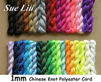 Wholesale Chinese Knot Cord 1mm - U Pick! 270yds (27yds x 10pcs) 1mm Chinese Knot Beading Polyester (similar but not nylon ) Cord NCP10, 270yds=250m=810ft