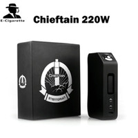 Autentica Wotofo Chieftain 220W Temp Control Box Mod visualizzazione del sistema operativo di LED Palm Dimensione VS SDNA 200 Xcube II 160W SMY 260W