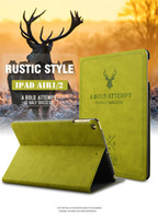 Wholesale Ipad New Retro - Retro Painted Deer All-inclusive Smart Awake Sleep Stand PU Cover Shockproof Case For New iPad 2017 9.7 Pro 10.5 2 3 4 5 6 Air Mini