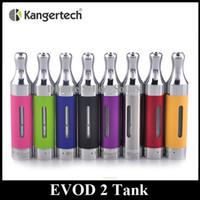 Wholesale Wholesale Kanger Evod - Authentic Kanger EVOD 2 Atomizer 1.5ml Bottom Dual Coil EOVD2 Glassomizer EGO Thread Kangertech BDC Tank In Stock