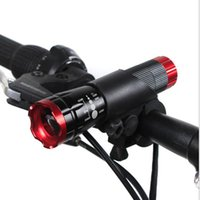 Wholesale Flashlight Sets - Bicycle Lights Headlight Light Focusing Flashlight LED Flashlight Gift Set Mountain Bike Bicycle Accessories Headlights 120G Riding flashlig