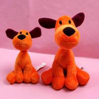 Wholesale Bandai 12 - Wholesale-1pcs Loula Puppy Pocoyo Cartoon Plush Stuffed Figure Toys 14cm 21cm Animals Dog Loula Pocoyo Bandai Plush Toy Dolls