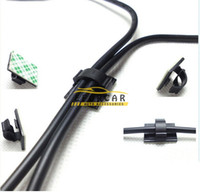 Wholesale new loom - Good Hot New Black Nylon Power Wire Cable Clamp Tie Down Holder Car Audio Split Loom