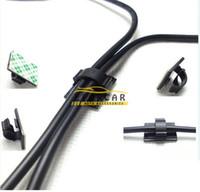 ses güç kablosu toptan satış-İyi Sıcak Yeni Siyah Naylon Güç Tel Kablo Kelepçe Kravat Aşağı Tutucu Araba Ses Bölünmüş Loom