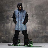 Wholesale-Professional Men Women Winter Ski Suit Jacket Pants Set Warm Waterproof Respirável Skiing Snowboard Hooded Jacket Suit Set