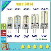 Wholesale G4 Led Warm White Home - G4 12V 110-220V LED Corn Lamp 3W 4W 5W 6W 9W LED Light 3014 Corn Bulb Silicone Lamps Crystal Chandelier Home Decoration Light