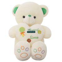 Wholesale Giant Bear Heart - Dorimytrader 51''   130 Heart Bear Doll Stuffed Soft Plush Giant Cartoon Teddy Bear Toy Nice Valentine's Day Present Free Shipping DY60907