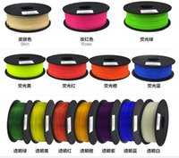 Wholesale Abs Pla Filament - 1.75mm and 3.00mm PLA ABS Filament for 3D Printer Drawing Pen.34colors 3D Printing Material.DIY 3D Art Printer tool.Free shiping.makerbot.