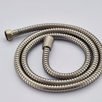 Wholesale hose bath resale online - NEW Stainless Steel quot Brushed Nickel Bath Shower Hand Hose G1 quot Shower Hose