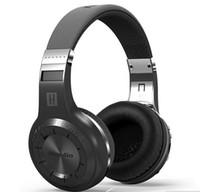 Wholesale Headphones Built Radio - Bluedio H+ Bluetooth V4.1 headphones Stereo Wireless Built-in Mic Micro-SD FM Radio Over-ear headset earphones