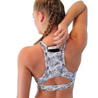 Wholesale Fast Bras - Wholesale- Woman's Pro Padded Compression Yoga Sports Bra Sportswear Spaghetti Strap Fast dry elastic Running Women Yoga bra