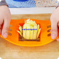 Wholesale Wholesale Plastic Chips - New Stainless Steel potato chips cutter Slicer machines Vertical French fries Strips cutters Kitchen Gadgets tools