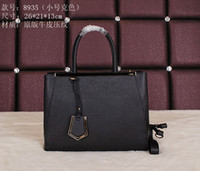 Wholesale Locking Block - Factory Direct sale Women FashionTotes block colors casual leather handbags small concise Totes 26x21x13cm free shipping