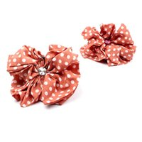 Wholesale Hair Jaw Clips Bows - FG 1509 Korean Beauty dot Bow Jaw Clip Women Barrette Hair Claw Claws women Hair Accessories Lowest wholesale