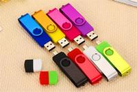 memórias usb 4gb venda por atacado-100% Capacidade Real 2 GB 4 GB 8 GB 16 GB 32 GB 64 GB 128 GB 256 GB OTG USB Flash Drive Memory Stick de Metal externo em Embalagem OPP