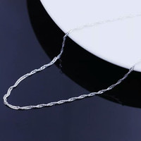 Wholesale Sterling Silver Wave - Korean jewelry female models wave chain 925 sterling silver necklace factory direct wholesale valentine star with money to send his girlfrie