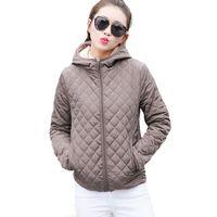 Wholesale Womens Cotton Parka Coat - Wholesale- Autumn 2017 Parkas basic jackets Female Women Winter plus velvet lamb hooded Coats Cotton Winter Jacket Womens Outwear coat