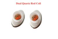 Wholesale Micro G Pen Wax Vaporizer - Full ceramic dual quartz coil for micro g dry herbal vaporizers pen Wax elip atomizer e cigarette g pro vaporizer pen Coils