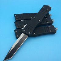 Wholesale Auto Gear Box - MT A161 Troodon Black Handle Black Double   Single Blade Auto Dual action Tactical knife outdoor gear tools knives with Orignal box