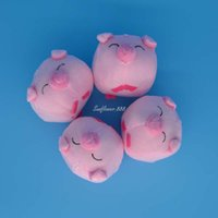 Lovely Plush Filling Big Head Pig Pink Sonrisa Eye Pig Peluche Juguete de Dibujos Animados Bouquet Craft Boda Animales Felpa Juguetes regalo