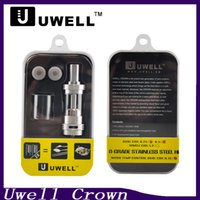 Wholesale Wholesale Metal Crowns - Uwell Crown tank Sub ohm Tank 0.2 0.5ohm Dual Coil 4ml Temp Control Uwell Crown Tank for Xcube2 IPV4s Snowwolf 200w 0266041