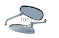 Wholesale Honda Shadow Ace - Chrome Motorcycle Rear View Side Oval Mirrors for 2000 Honda Shadow ACE 750 VT750CD Deluxe